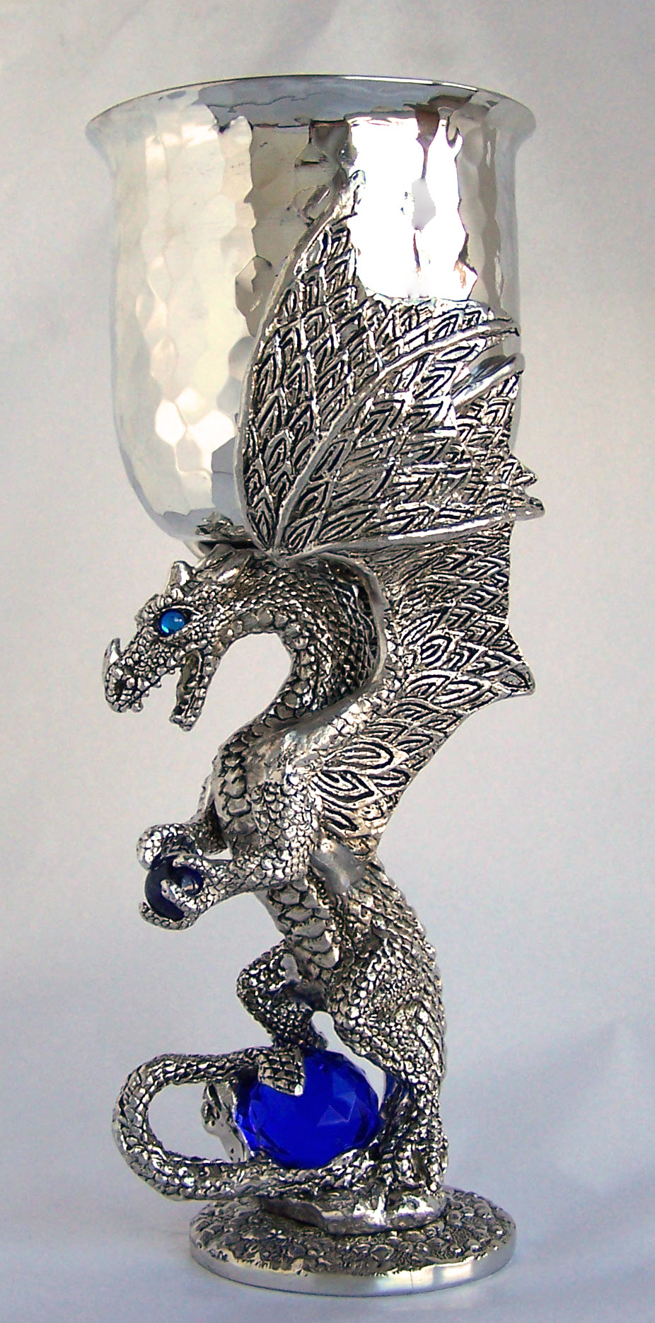 Platinum Dragon Pewter Goblet (Limited Edition)