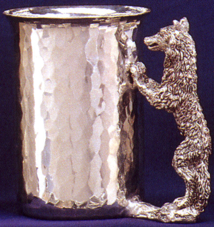 Wolf Small Pewter Stein