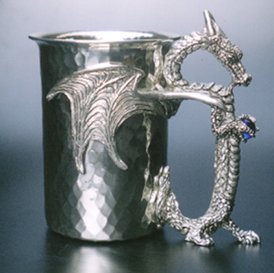 Dragon Mystic Pewter Stein