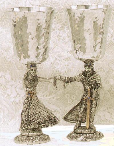 Arthur & Guinevere Pewter Goblets