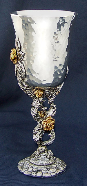 Rose Pewter Goblet