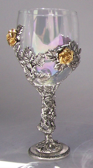 Rose Vine Glass