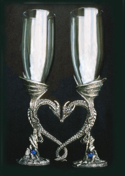 Regal Dragon  Heart Pair