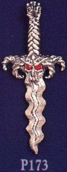 Goat's Head Kris Pewter Pendant