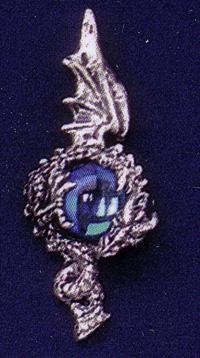 Round Dragon Pewter Pendant